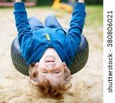 funny happy preschool kid boy...   Shutterstock . vector #380806021