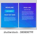 abstract vector modern flyers... | Shutterstock .eps vector #380808799
