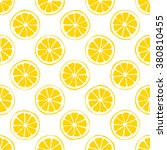 lemon seamless pattern white... | Shutterstock .eps vector #380810455