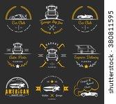 set of vintage car club  drift...   Shutterstock .eps vector #380811595