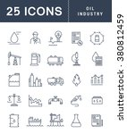 set vector line icons with open ... | Shutterstock .eps vector #380812459