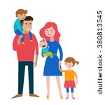 happy family  making fun ... | Shutterstock .eps vector #380813545