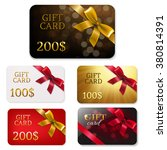 gift card with bows big set... | Shutterstock .eps vector #380814391