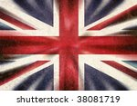 british union jack flag in a... | Shutterstock . vector #38081719