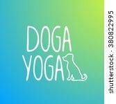 logo for dog yoga studio on...   Shutterstock .eps vector #380822995