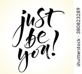 inspirational quote just be you.... | Shutterstock .eps vector #380823289
