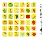 vector icons of fruits and...   Shutterstock .eps vector #380826157