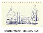 geothermal power station.... | Shutterstock .eps vector #380827765
