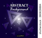 abstract triangle background.... | Shutterstock .eps vector #380828884