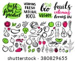 vector handwritten food... | Shutterstock .eps vector #380829655