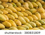 ripe mango on the market | Shutterstock . vector #380831809