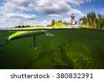 Split Shot Of The Man Fishing...
