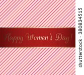 happy womens day red festive... | Shutterstock .eps vector #380834515