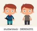 cute cartoon kids  rich and... | Shutterstock .eps vector #380836351