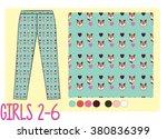 kids pants fashion sketch    Shutterstock .eps vector #380836399