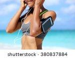 fitness phone armband runner... | Shutterstock . vector #380837884