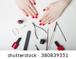 manicure   beautiful manicured... | Shutterstock . vector #380839351