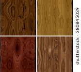 set of brown wooden plank... | Shutterstock . vector #380845039