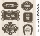 western vintage labels and... | Shutterstock .eps vector #380846494