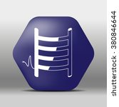 blue hexagon icon or logo white ...   Shutterstock .eps vector #380846644