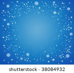 christmas background with stars ... | Shutterstock .eps vector #38084932