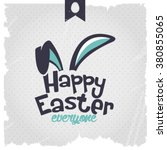happy easter   easter bunny... | Shutterstock .eps vector #380855065