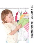 child in the clothes shop | Shutterstock . vector #38085541