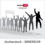 cheering fans for sports and... | Shutterstock .eps vector #380858149