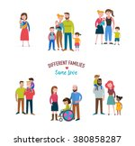 gay family  different kind of... | Shutterstock .eps vector #380858287