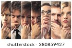 people thinking | Shutterstock . vector #380859427