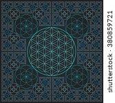 vector round light contour... | Shutterstock .eps vector #380859721