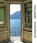 Romantic view to the lake Como, Italy - stock photo