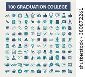 graduation  college  education  ... | Shutterstock .eps vector #380872261