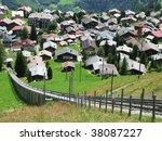 muerren  famous swiss skiing... | Shutterstock . vector #38087227