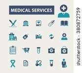 medical services icons | Shutterstock .eps vector #380872759