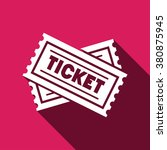 Ticket Flat Icon Vector...