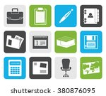 flat business and office icons  ...   Shutterstock .eps vector #380876095