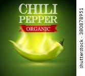 Green Burning Chili Pepper On ...