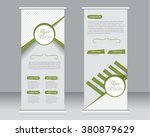 roll up banner stand template.... | Shutterstock .eps vector #380879629