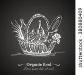 illustration of basket with... | Shutterstock .eps vector #380880409