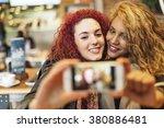 young friends taking a selfie... | Shutterstock . vector #380886481