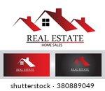 real estate logo design | Shutterstock .eps vector #380889049