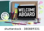 welcome aboard | Shutterstock . vector #380889331