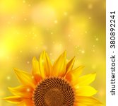 a single sunflower on a yellow... | Shutterstock .eps vector #380892241