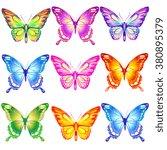 butterflies design | Shutterstock . vector #380895379