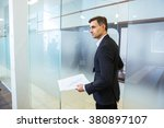 confident businessman in... | Shutterstock . vector #380897107