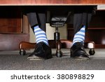 businessman with striped socks | Shutterstock . vector #380898829