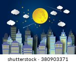 landscape city village with... | Shutterstock .eps vector #380903371