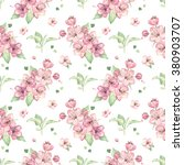 seamless pattern of spring... | Shutterstock . vector #380903707