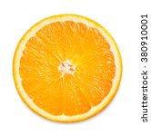 Slice Of Fresh Orange Isolated...